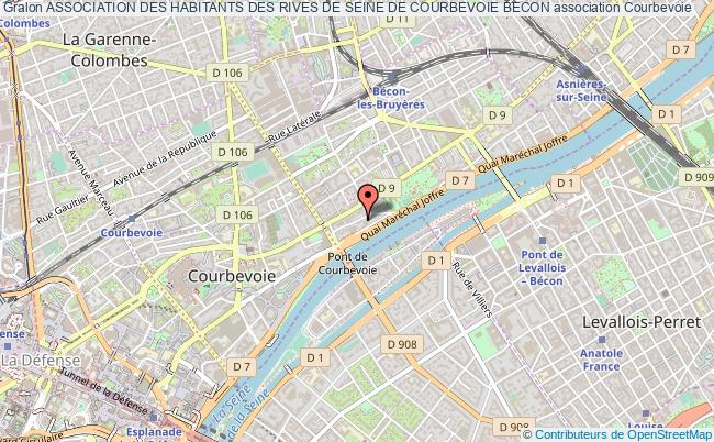 plan association Association Des Habitants Des Rives De Seine De Courbevoie Becon Courbevoie