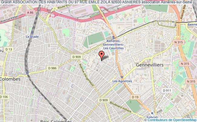 Plan Association Des Habitants Du 97 Rue Emile Zola 92600 Asnieres Asnires Sur