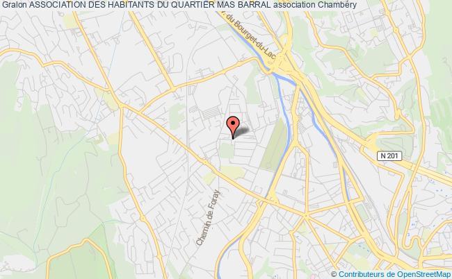 plan association Association Des Habitants Du Quartier Mas Barral