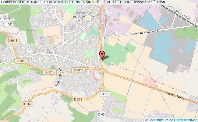 plan association Association Des Habitants Et Riverains De La Verte Bonne Gaillon