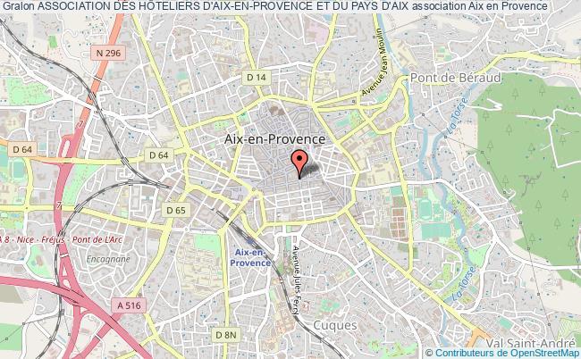 plan association Association Des HÔteliers D'aix-en-provence Et Du Pays D'aix