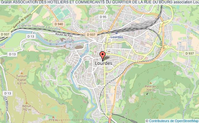 plan association Association Des Hoteliers Et Commercants Du Quartier De La Rue Du Bourg Lourdes