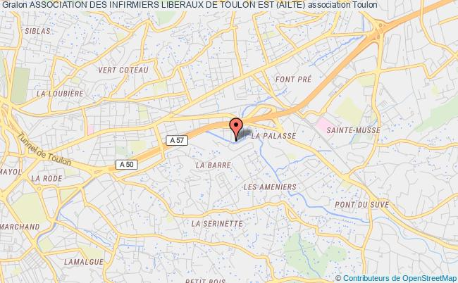 plan association Association Des Infirmiers Liberaux De Toulon Est (ailte)