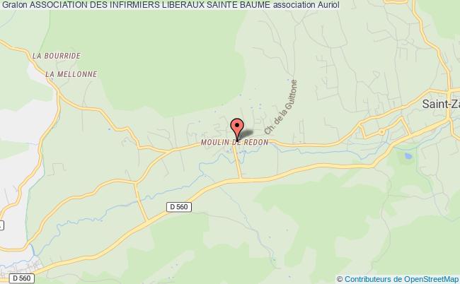 plan association Association Des Infirmiers Liberaux Sainte Baume