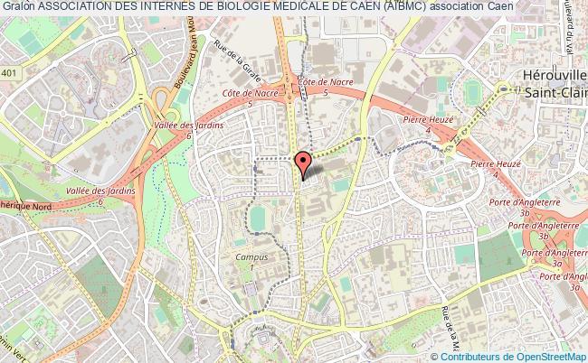 plan association Association Des Internes De Biologie Medicale De Caen (aibmc) Caen
