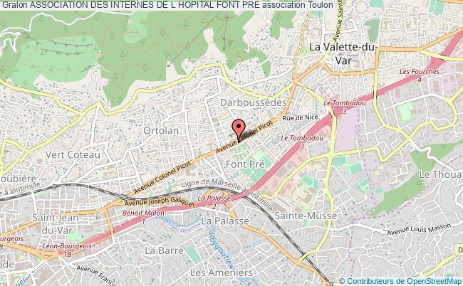 plan association Association Des Internes De L Hopital Font Pre