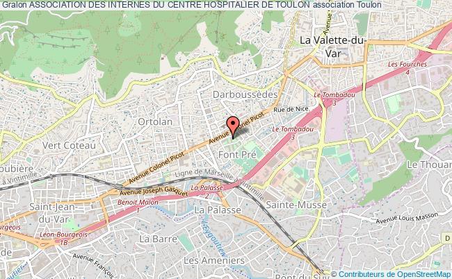 plan association Association Des Internes Du Centre Hospitalier De Toulon