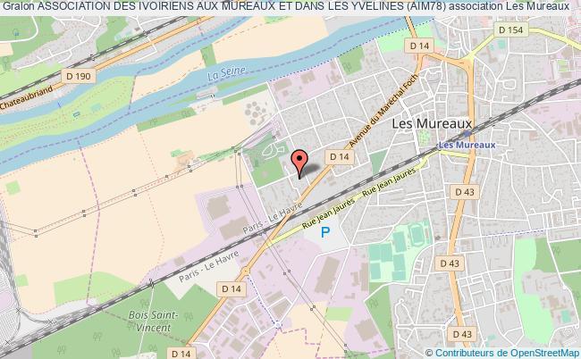 plan association Association Des Ivoiriens Aux Mureaux Et Dans Les Yvelines (aim78) Les   Mureaux
