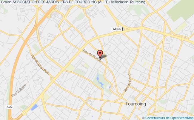 plan association Association Des Jardiniers De Tourcoing (a.j.t.)