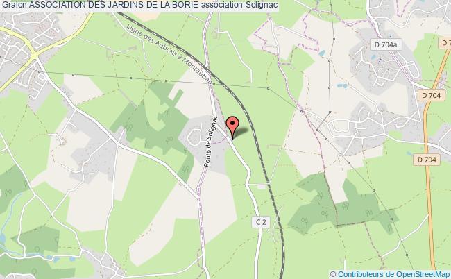 plan association Association Des Jardins De La Borie