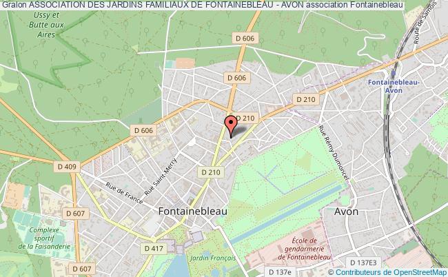 plan association Association Des Jardins Familiaux De Fontainebleau - Avon Fontainebleau