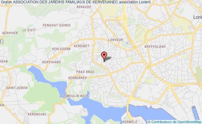 plan association Association Des Jardins Familiaux De Kervenanec