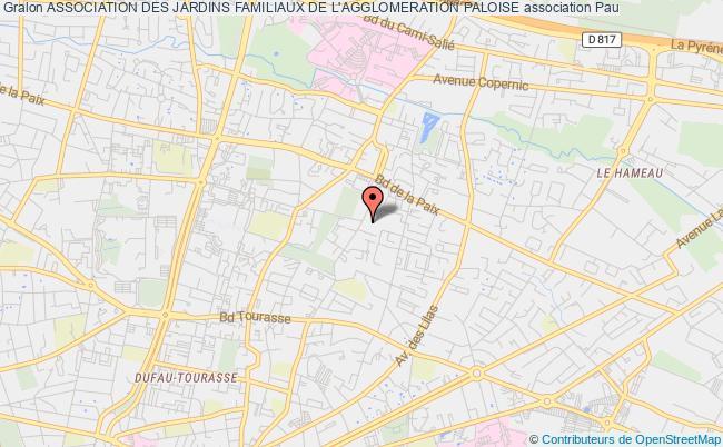 plan association Association Des Jardins Familiaux De L'agglomeration Paloise Pau