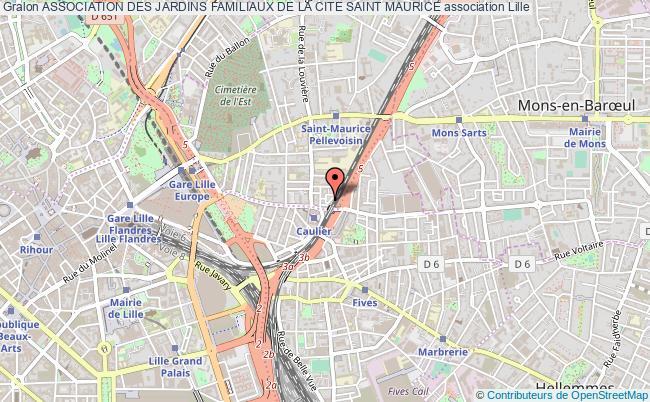 plan association Association Des Jardins Familiaux De La Cite Saint Maurice Lille