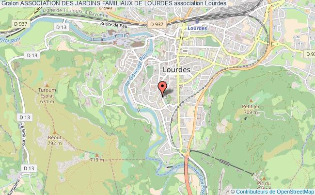 plan association Association Des Jardins Familiaux De Lourdes Lourdes