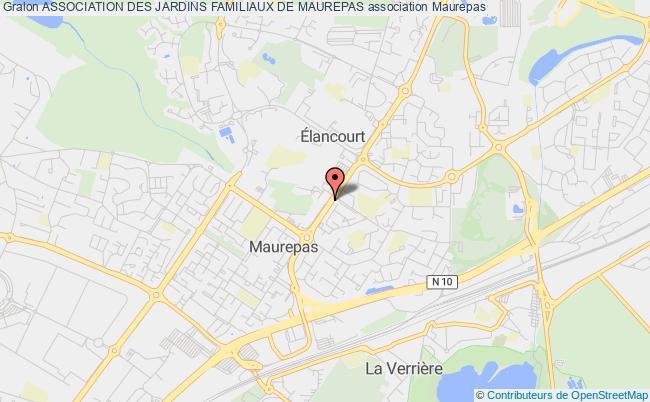 plan association Association Des Jardins Familiaux De Maurepas Maurepas