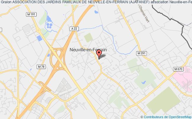plan association Association Des Jardins Familiaux De Neuville-en-ferrain (ajafanef)