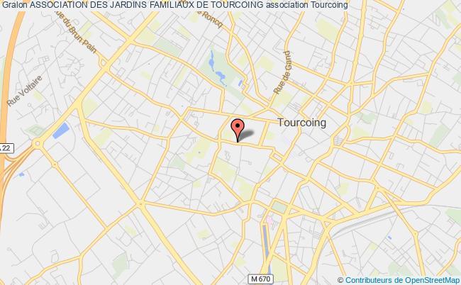 plan association Association Des Jardins Familiaux De Tourcoing