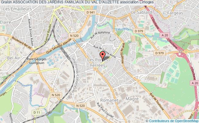 plan association Association Des Jardins Familiaux Du Val D'auzette