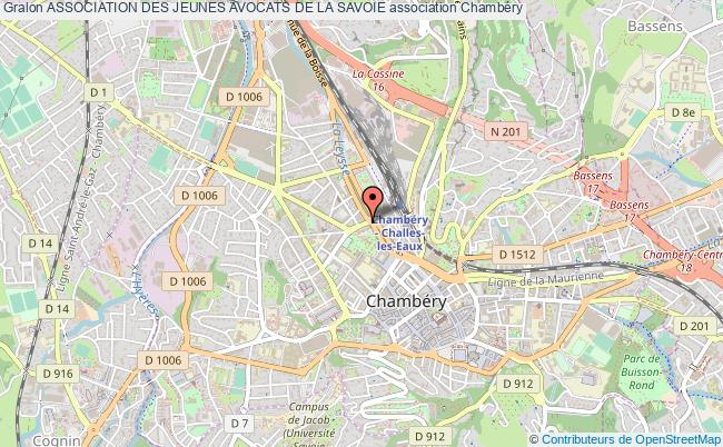 plan association Association Des Jeunes Avocats De La Savoie