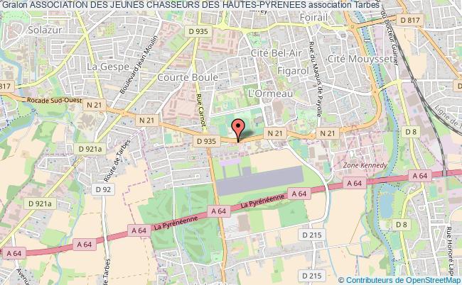 plan association Association Des Jeunes Chasseurs Des Hautes-pyrenees Tarbes