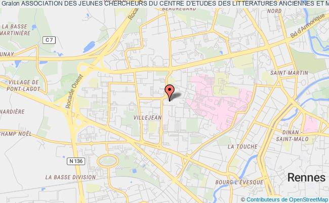 plan association Association Des Jeunes Chercheurs Du Centre D'etudes Des Litteratures Anciennes Et Modernes (association Des Jeunes Chercheurs Du Celam) Rennes