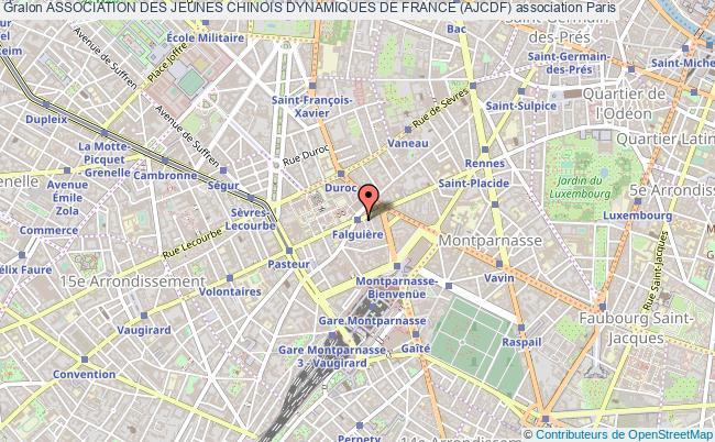 plan association Association Des Jeunes Chinois Dynamiques De France (ajcdf) Paris