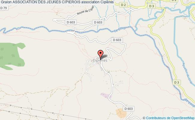 plan association Association Des Jeunes Cipierois