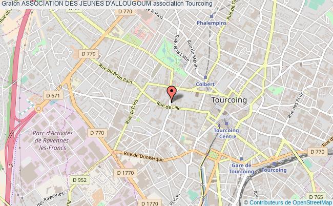 plan association Association Des Jeunes D'allougoum Tourcoing