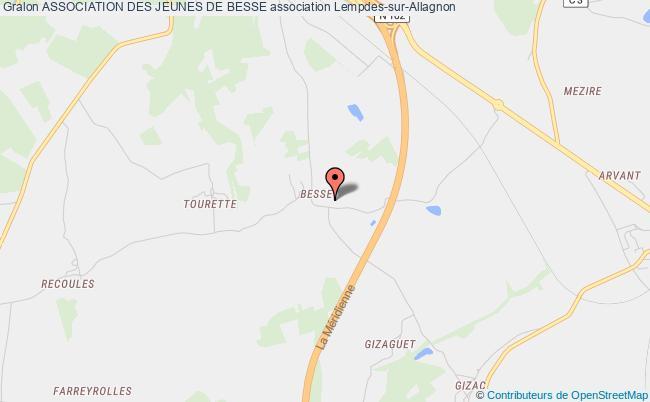 plan association Association Des Jeunes De Besse Lempdes-sur-Allagnon
