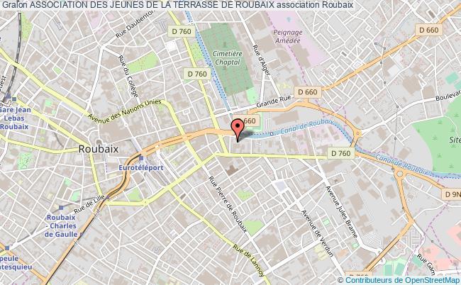 plan association Association Des Jeunes De La Terrasse De Roubaix Roubaix