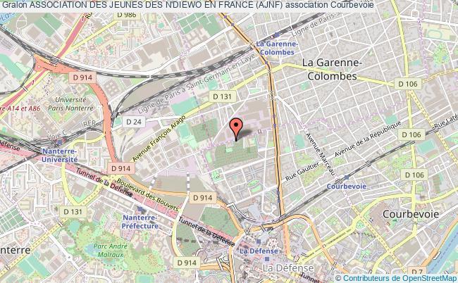 plan association Association Des Jeunes Des N'diewo En France (ajnf) Courbevoie