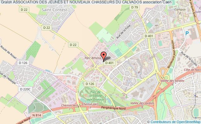 plan association Association Des Jeunes Et Nouveaux Chasseurs Du Calvados Caen