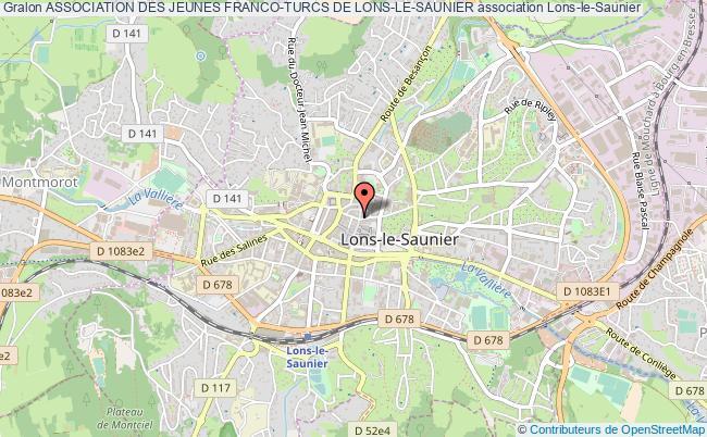 plan association Association Des Jeunes Franco-turcs De Lons-le-saunier