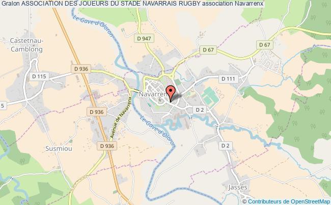 plan association Association Des Joueurs Du Stade Navarrais Rugby