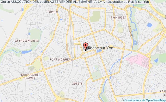 plan association Association Des Jumelages Vendee-allemagne ( A.j.v.a.) La    Roche-sur-Yon