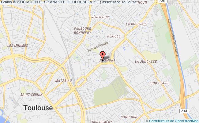 plan association Association Des Kanak De Toulouse (a.k.t.)