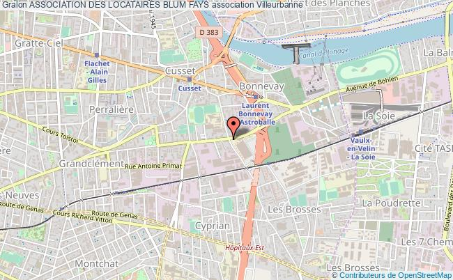 plan association Association Des Locataires Blum Fays
