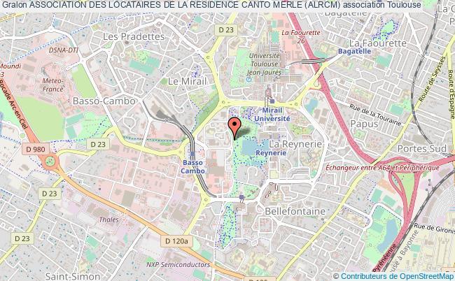 plan association Association Des Locataires De La Residence Canto Merle (alrcm)