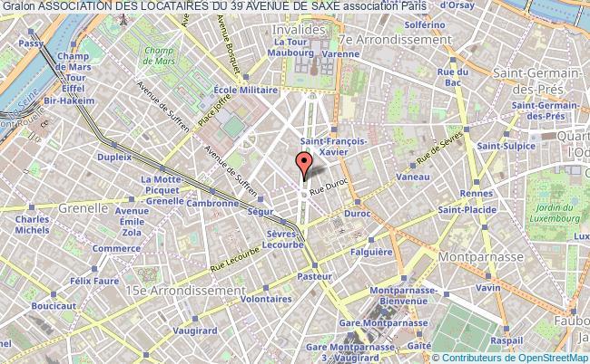 plan association Association Des Locataires Du 39 Avenue De Saxe