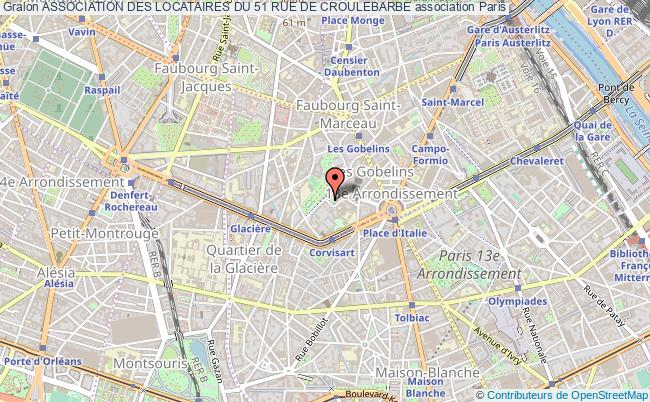 plan association Association Des Locataires Du 51 Rue De Croulebarbe
