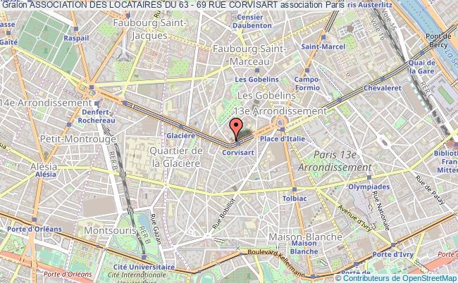 plan association Association Des Locataires Du 63 - 69 Rue Corvisart