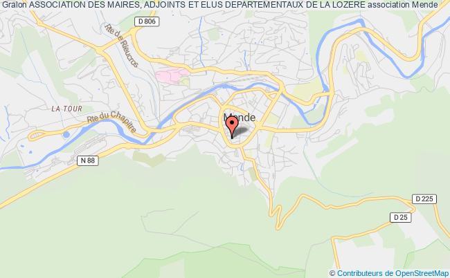 plan association Association Des Maires, Adjoints Et Elus Departementaux De La Lozere