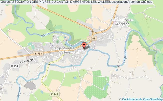 plan association Association Des Maires Du Canton D'argenton Les Vallees