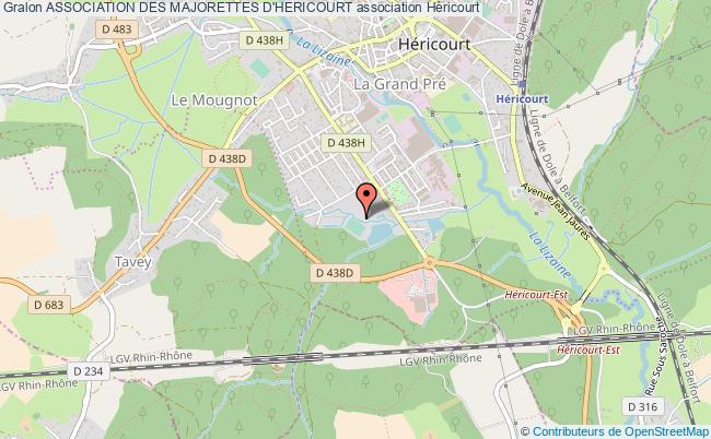 plan association Association Des Majorettes D'hericourt