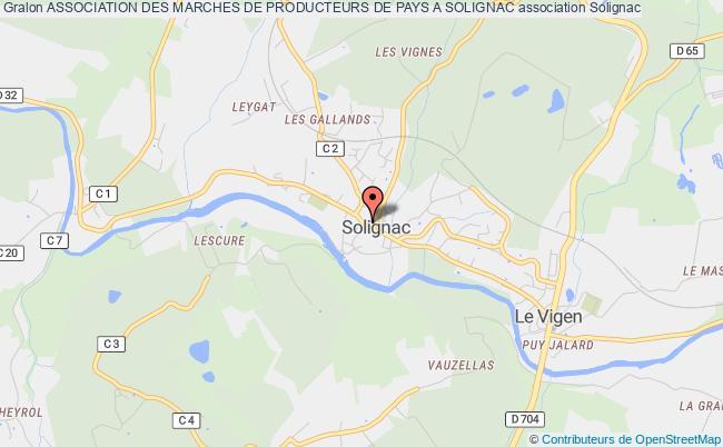 plan association Association Des Marches De Producteurs De Pays A Solignac