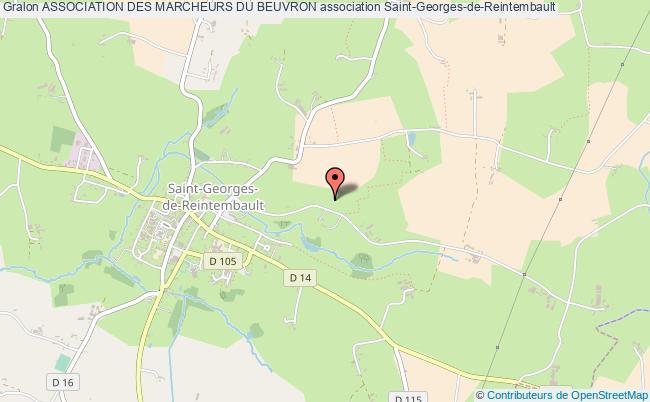 plan association Association Des Marcheurs Du Beuvron