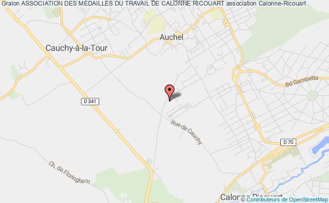 plan association Association Des MÉdaillÉs Du Travail De Calonne Ricouart