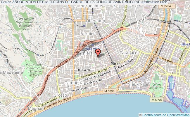 plan association Association Des Medecins De Garde De La Clinique Saint-antoine Nice