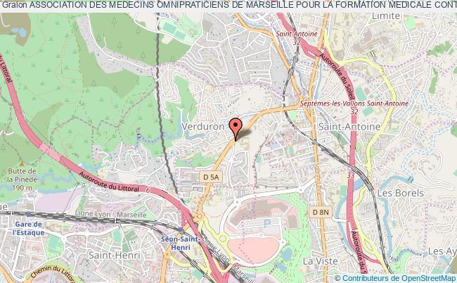 plan association Association Des Medecins Omnipraticiens De Marseille Pour La Formation Medicale Continue (a.m.o.m.e.c.) Marseille